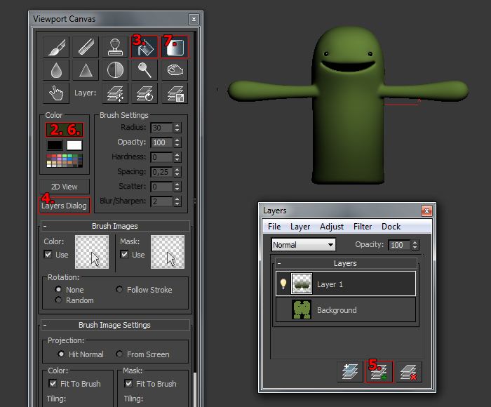 Viewport Canvas 3ds max 2011