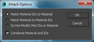 3ds max Attach Options