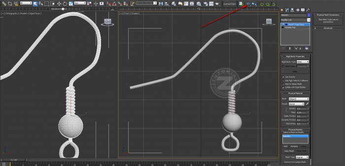 3ds max massfx static rigid body