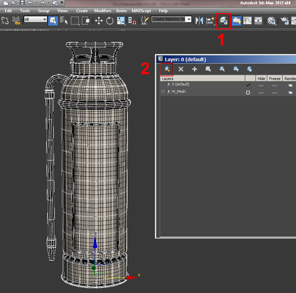 3ds Max Manage Layers